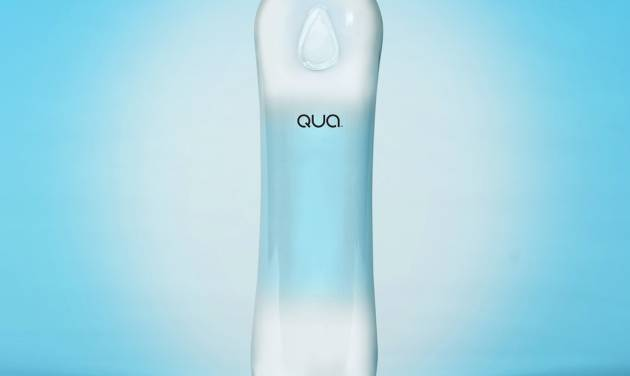 PepsiCo is introducing its first premium bottled water at the Golden Globes Sunday, Jan. 12, which comes after the success of Coca-Cola's Smartwater. The company says the name and design for Qua's bottle may change before it's rolled out more broadly. (AP Photo/PepsiCo)