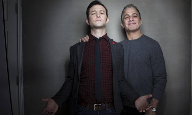 """Joseph Gordon-Levitt, left, and Tony Danza from the film """"Don Jon's Addiction,"""" pose for a portrait during the 2013 Sundance Film Festival at the Fender Music Lodge, on Saturday, Jan. 19, 2013 in Park City, Utah. (Photo by Victoria Will/Invision/AP Images)"""