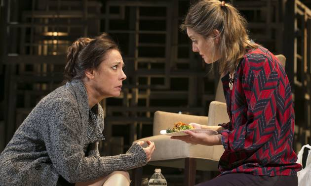 """This undated theater image released by Boneau/Bryan-Brown shows actress Laurie Metcalf, left, and Zoe Perry during a performance of """"The Other Place."""" (AP Photo/Boneau/Bryan-Brown, Joan Marcus)"""