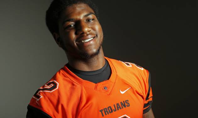 Deondre Clark of Douglass poses for a photo in Oklahoma City Monday, Dec. 17, 2012. Photo by Nate Billings, The Oklahoman