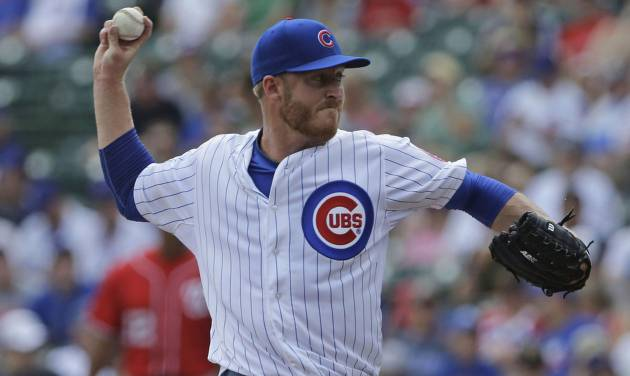 Former Jenks star Dallas Beeler delivers a pitch during his major league debut in June.                     AP Photo