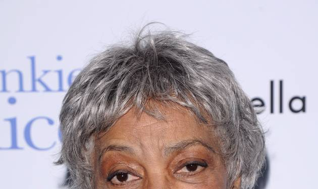 """FILE - In this Nov. 17, 2010 file photo, Ruby Dee attends a special screening of """"Frankie & Alice"""" in New York. Dee, an acclaimed actor and civil rights activist whose versatile career spanned stage, radio television and film, has died at age 91, according to her daughter. Nora Davis Day told The Associated Press on Thursday, June 12, 2014, that her mother died at home at New Rochelle, New York, on Wednesday night.  (AP Photo/Peter Kramer, file)"""