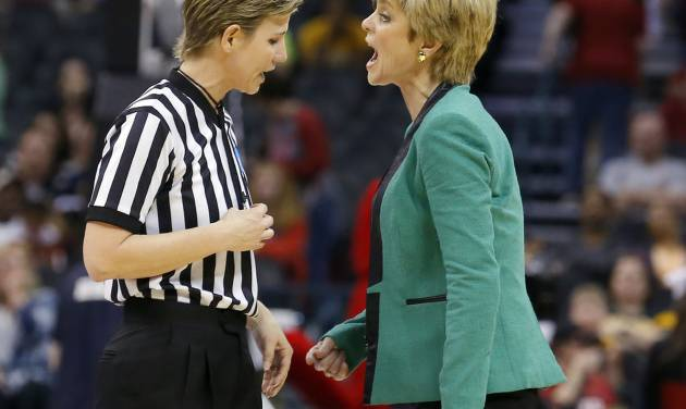 UNIVERSITY OF LOUISVILLE / NCAA TOURNAMENT: Baylor head coach Kim Mulkey during college basketball game between Baylor University and Louisville at the Oklahoma City Regional for the NCAA women's college basketball tournament at Chesapeake Energy Arena in Oklahoma City, Sunday, March 31, 2013. Photo by Sarah Phipps, The Oklahoman