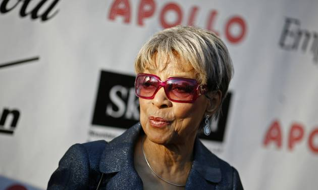 FILE - In this Monday, June 2, 2008, file photo, Actress Ruby Dee arrives for the Apollo Theater's annual Hall of Fame induction ceremony in New York. Dee, an acclaimed actor and civil rights activist whose versatile career spanned stage, radio television and film, died at age 91, on Thursday, June 11, 2014.  (AP Photo/Jason DeCrow, File)