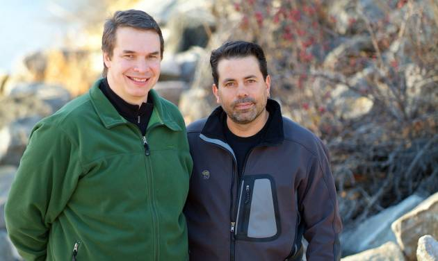 "This 2006 photo released by Viking shows Greg Mortenson, left, and David Oliver Relin, co-authors of the best-selling book ""Three Cups of Tea.""  Relin committed suicide in Corbett, Ore., outside Portland, on Nov. 14, said the deputy Multnomah County medical examiner, Peter Bellant, Sunday, Dec. 2, 2012. Relin was 49. (AP Photo/Viking, Steven Winslow)"