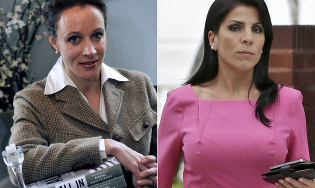 This combo made from file photos shows Gen. David Petraeus' biographer and paramour Paula Broadwell, left, and Florida socialite Jill Kelley. Broadwell and Kelley, the two women at the center of David Petraeus' downfall as CIA director, visited the White House separately on various occasions in what appear to be unrelated calls that did not result in meetings with President Barack Obama. (AP Photos/Charlotte Observer, T. Ortega Gaines/AP, Chris O'Meara) LOCAL TV OUT (WSOC, WBTV, WCNC, WCCB); LOCAL PRINT OUT (CHARLOTTE BUSINESS JOURNAL, CREATIVE LOAFLING, CHARLOTTE WEEKLY, MECHLENBURG TIMES, CHARLOTTE MAGAZINE, CHARLOTTE PARENTS) LOCAL RADIO OUT (WBT)