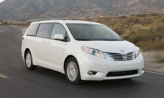 This undated image made available by Toyota shows the 2011-2014 Toyota Sienna Limited. (AP Photo/Toyota, David Dewhurst)