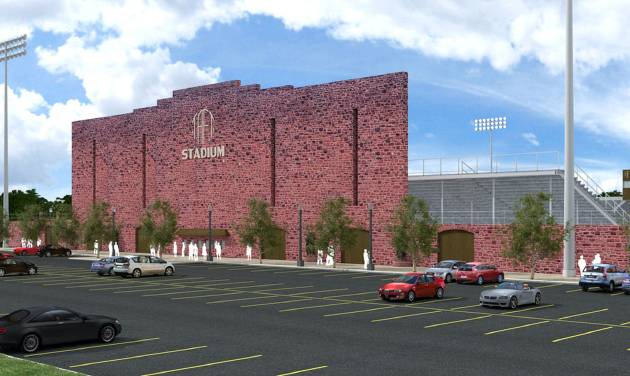 The rendering of the new Taft Stadium from MA+ Architecture. Photo provided