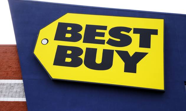 This March 25, 2014 photo shows a Best Buy store in Philadelphia. Best Buy reports quarterly financial results on Thursday, May 22, 2014. (AP Photo/Matt Rourke)