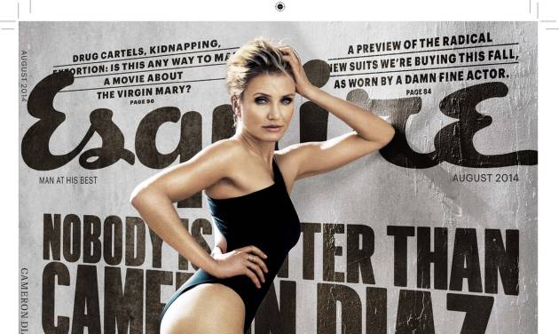"""This magazine cover image released by Esquire shows actress Cameron Diaz on the August issue of the men's magazine, on newsstands on July 18, 2014, the same day Diaz's new move, """"Sex Tape,"""" hits theaters. (AP Photo/Esquire)"""