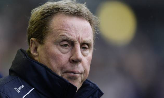 FILE - This is a Saturday April 13, 2013  file photo of Queens Park Rangers' manager Harry Redknapp as he  takes to the touchline before his team's English Premier League soccer match against Everton at Goodison Park Stadium, Liverpool, England.  The new English Premier League season starts on Saturday Aug. 16, 2014. (AP Photo/Jon Super, File)