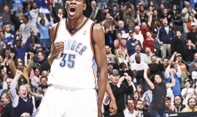 The Thunder's Kevin Durant has become a quick fixture in the state of Oklahoma.  Photo by nate billings, the oklahoman