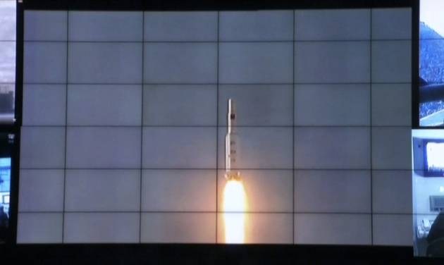 In this image made from video, displays show the Unha-3 rocket launch at North Korea's space agency's General Launch Command Center on the outskirts of Pyongyang, Wednesday, Dec. 12, 2012. The rocket launch will enhance the credentials of 20-something leader Kim Jong Un at home a year after he took power following the death of his father Kim Jong Il. It is also likely to bring fresh sanctions and other punishments from the U.S. and its allies, which were quick to condemn the launch as a test of technology for a missile that could attack the U.S. mainland. Pyongyang says it was merely a peaceful effort to put a satellite into orbit. (AP Photo via APTN)
