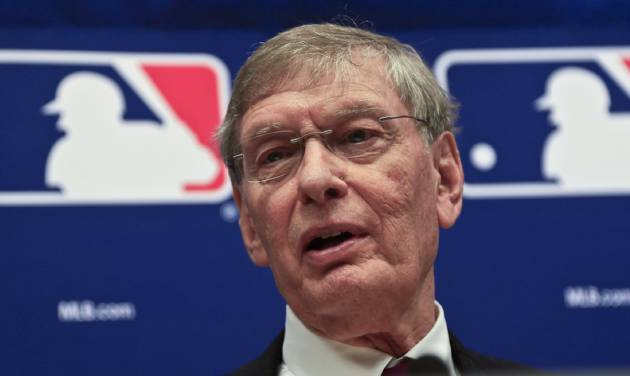 Baseball Commissioner Bud Selig speaks during a press conference, Thursday, May 15, 2014 at Major League Baseball headquarters in New York. Selig, who has headed baseball since 1992 and plans to retire in January 2015, announced that St. Louis Cardinals chairman Bill DeWitt was appointed chairman of a succession committee to determine the process for his replacement.  (AP Photo/Bebeto Matthews)