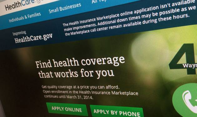 FILE - This Nov. 29, 2013, file photo shows a part of the HealthCare.gov website, photographed in Washington. The administration is warning hundreds of thousands of consumers they risk losing taxpayer-subsidized health insurance unless they act quickly to resolve issues about their citizenship and immigration status. (AP Photo/Jon Elswick, File)