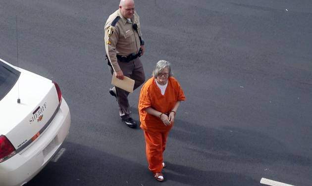 Murder defendant Beverly Sue Noe is brought Monday to the Creek County Courthouse in Sapulpa for a preliminary hearing. Photo by Stephen Pingry, Tulsa World