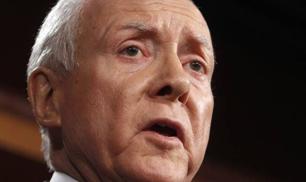 FILE - In this Feb. 2, 2011 file photo, Sen. Orrin Hatch, R-Utah speaks on Capitol Hill in Washington. High-tech companies looking for an immigration bill to solve their shortages of workers skilled in mathematics and science press for more concessions this week through Hatch. Democrats desperately need his support to give the legislation a chance. Some liberal Democrats, however, say the bill already gives too much to Silicon Valley. (AP Photo/Jacquelyn Martin)