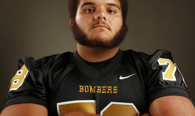 HIGH SCHOOL FOOTBALL / MUG: Midwest City football player Carlos Freeman poses for a photo during The Oklahoman's Fall High School Sports Photo Day in Oklahoma City, Wednesday, Aug. 15, 2012. Photo by Nate Billings, The Oklahoman