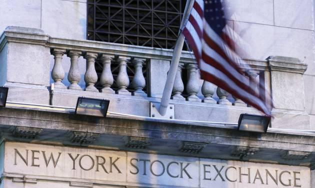 FILE - The New York Stock Exchange is shown, in this Aug. 9, 2011 file photo taken in New York. World shares were rattled Thursday July 24, 2014 by reports the European Union is weighing stiffer financial sanctions against Russia.  .(AP Photo/Mark Lennihan, File)