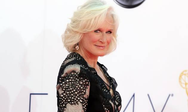 FILE - In this Sept. 23, 2012 file photo, Glenn Close arrives at the 64th Primetime Emmy Awards at the Nokia Theatre in Los Angeles. Glenn Close already has a Tony Award, Emmy Award, Golden Globe and six Oscar nominations, but her latest honor is among the most meaningful. The 65-year-old actress will accept a special recognition at the second annual American Giving Awards, set to air Saturday, Dec. 8, 2012, on NBC, for her work with Bring Change 2 Mind, a nonprofit organization that aims to end the stigma around mental illness. (Photo by Matt Sayles/Invision/AP, File)
