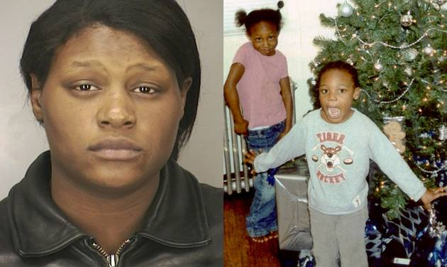 FILE - This combination of file photos provided by the Nassau County Police Department shows Leatrice Brewer in 2003, and two of her children, Jewell Ward, and Michael Demesyeux, right. Legal experts say the case of Brewer, who drowned her three children in a bathtub and is now seeking to cash in, could succeed because of a loophole. Since Leatrice Brewer was never convicted — instead found not guilty by reason of mental disease — legal experts say she could make a plausible case to receive some of her children's $350,000 estate. (AP Photo/Nassau County Police Department, File)