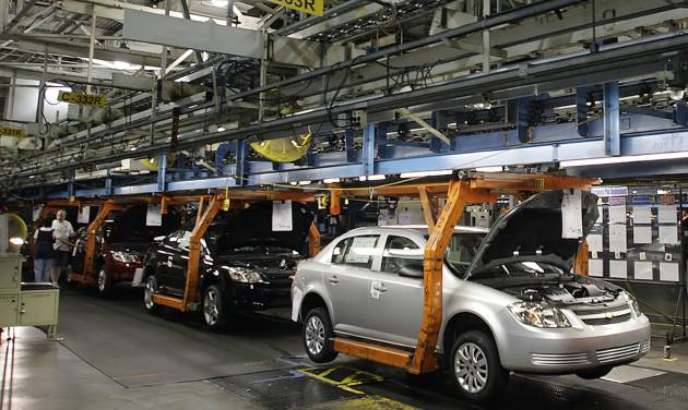 FILE - In  this Thursday, Aug. 21, 2008, file photo, the Chevy Cobalt moves on the assembly line at the Lordstown Assembly Plant Thursday Aug. 21, 2008. in Lordstown, Ohio.  Toyota's saga of recalls, investigations and lawsuits related to unintended acceleration foreshadows some of what General Motors faces as it resolves issues related to a faulty ignition switch linked to at least 12 deaths (AP  Photo/Ron Schwane, File)