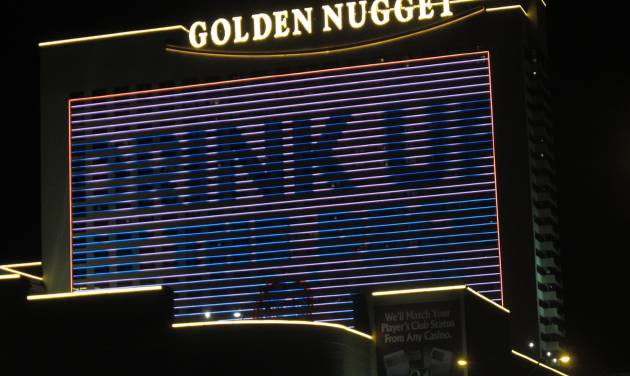 The Golden Nugget Atlantic City, shown in this Aug. 31, 2012 photo, posted a 70 percent revenue increase in May 2014. Figures released on June 12, 2014 show the Atlantic City, N.J. casino went from $9.6 million a year ago to $16.3 million in May. (AP Photo/Wayne Parry)