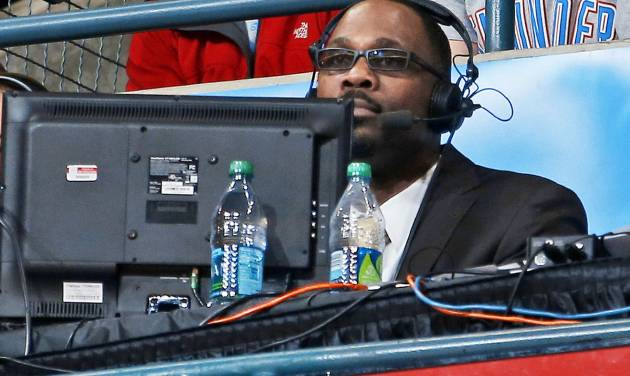 Grant Long watches during an NBA basketball game between the Oklahoma City Thunder and the Los Angeles Lakers at Chesapeake Energy Arena in Oklahoma City, Tuesday, March. 5, 2013. Photo by Bryan Terry, The Oklahoman