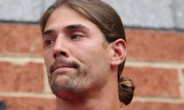 "Philadelphia Eagles wide receiver Riley Cooper meets with the media at NFL football training camp on Wednesday, July 31, 2013, in Philadelphia. Cooper has been fined by the team for making a racial slur at a Kenny Chesney concert that was caught on video, leading him to say he's ""ashamed and disgusted"" with himself. (AP Photo/Philadelphia Daily News, Yong Kim) THE EVENING BULLETIN OUT, TV OUT; MAGS OUT; NO SALES"