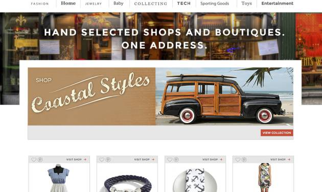 This screen shot shows 11 Main's homepage. The new e-commerce site is hoping to bring Main Street to the Web with an invite-only online marketplace that focuses on small-business retailers. (AP Photo)