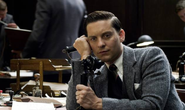 """This film publicity image released by Warner Bros. Pictures shows Tobey Maguire as Nick Carraway in a scene from """"The Great Gatsby."""" (AP Photo/Warner Bros. Pictures)"""