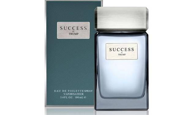 Donald Trump's new scent, Success, contains hints of juniper, red currant, and coriander, and is sold in Macy's.