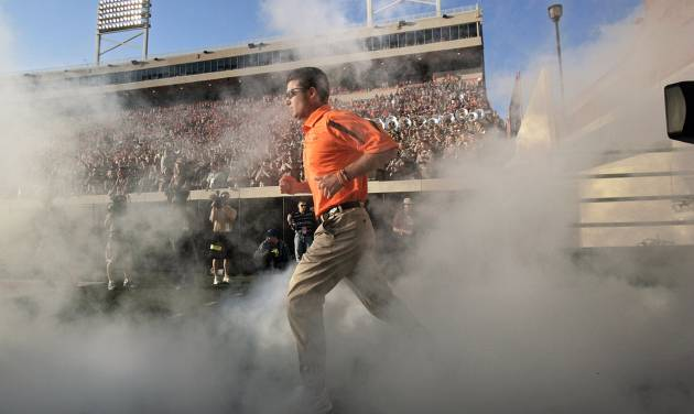 Under Mike Gundy, the Cowboys are in the verge of their fourth 10-win season in 108 years of football, and their first since winning the 1988 Holiday Bowl. Photo by SARAH PHIPPS, THE OKLAHOMAN