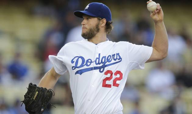 Los Angeles Dodgers starting pitcher Clayton Kershaw throws against the Chicago White Sox during the first inning of a baseball game on Monday, June 2, 2014, in Los Angeles. (AP Photo/Jae C. Hong)