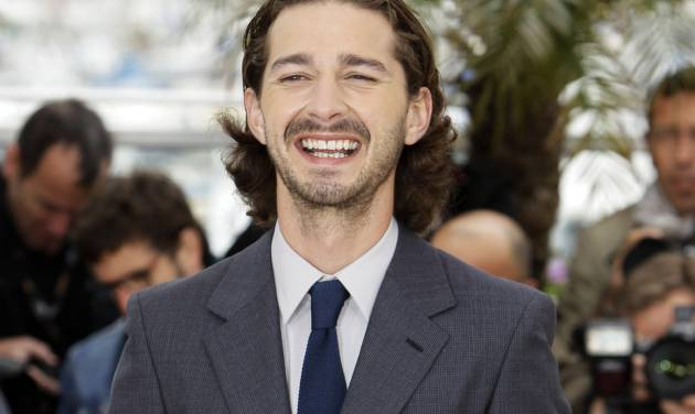 """FILE- In this May 19, 2012, file photo, actor Shia LaBeouf poses during a photo call for Lawless at the 65th international film festival, in Cannes, southern France. Sigur Ros' new video """"Fjogur Piano"""" released Monday, June, 18, features LeBeouf. The video was directed by Alma Har'el and is part of a series of videos being created for the band's latest album """"Valtari."""" (AP Photo/Francois Mori, File)"""