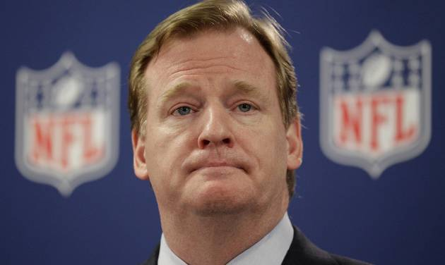 NFL Commissioner Roger Goodell speaks at a press conference following an owners meeting Tuesday, May 22, 2012, in Atlanta. (AP Photo/David Goldman)