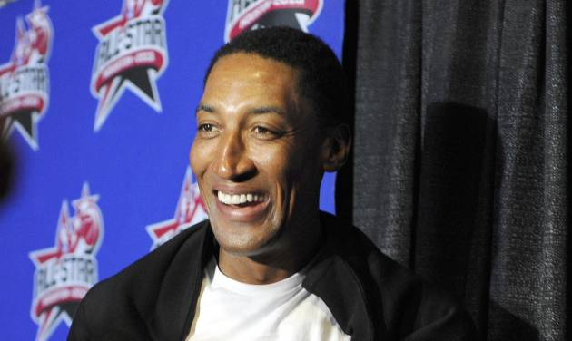 FILE - In this Feb. 17, 2013 file photo, Former NBA player Scottie Pippen arrives at the NBA All-Star basketball game in Houston. Los Angeles County prosecutors are declining to bring charges against Pippen after an altercation with an autograph seeker outside a Malibu restaurant. Prosecutors said Tuesday Aug. 27, 2013, there is insufficient evidence against Pippen. They also note 49-year-old Camran Shafighi had a blood-alcohol level more than twice the legal limit for driving, and that could have played a part in the altercation. The fight occurred outside Nobu restaurant in June 2013, when Shafighi took pictures of Pippen and sought his autograph. Shafighi was taken to a hospital with a head injury. Shafighi has since filed a $4 million lawsuit against Pippen. (AP Photo/Pat Sullivan, File)