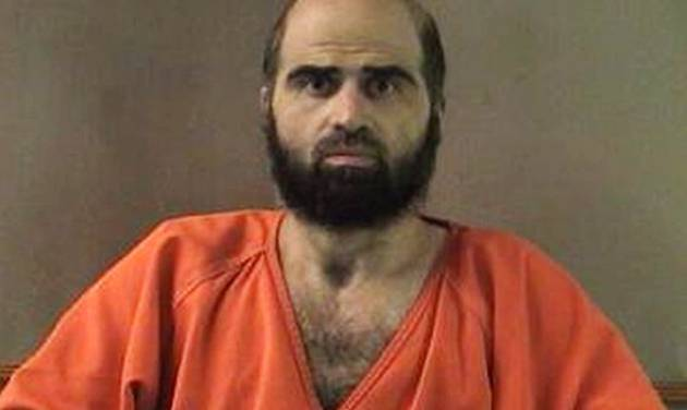 FILE - This undated file photo provided by the Bell County Sheriff's Department shows Army psychiatrist Maj. Nidal Hasan. A military jury has sentenced Hasan to death for the 2009 shooting rampage at Fort Hood that killed 13 people and wounded more than 30 others. (AP Photo/Bell County Sheriff's Department, File)