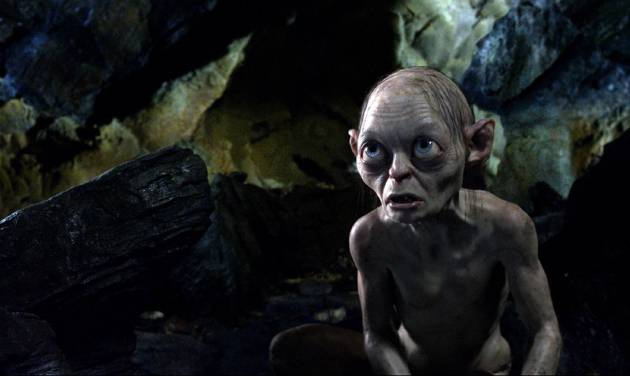 "FILE - This publicity file photo released by Warner Bros., shows the character Gollum voiced by Andy Serkis in a scene from the fantasy adventure ""The Hobbit: An Unexpected Journey.""  (AP Photo/Warner Bros., File)"