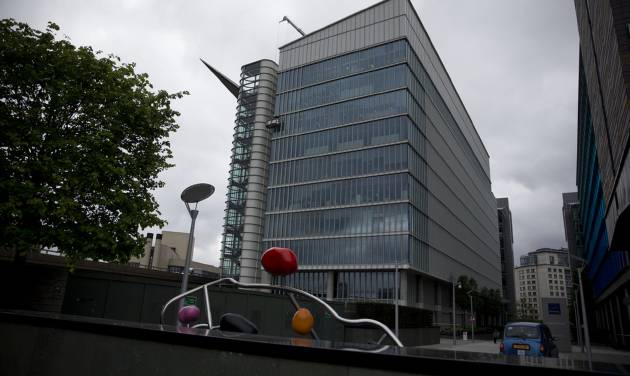 FILE - This Friday May 2, 2014 file photo shows an exterior view of the Two Kingdom Street building which houses the headquarters of AstraZeneca, in the Paddington area of London. The board of AstraZeneca has rejected the improved $119 billion takeover offer from U.S. drugmaker Pfizer, Monday May 19, 2014, a decision that has caused a sharp slide in the U.K. company's share price as investors think it effectively brings an end to the protracted and increasingly bitter takeover saga. (AP Photo/Matt Dunham, File)