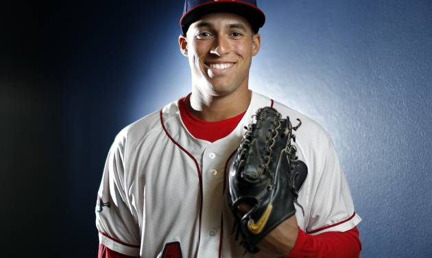 George Springer poses for a photo during the Oklahoma City Redhawks media day, Tuesday, April 01, 2014, in Oklahoma City. Photo by Sarah Phipps, The Oklahoman