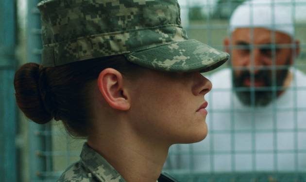"This photo provided by the Sundance Institute shows Kristen Stewart in a scene from the film, ""Camp X-Ray."" In her first feature since ""The Twilight Saga: Breaking Dawn - Part 2,"" Stewart plays a guard stationed in Guantanamo Bay in budding writer/director Peter Sattler's film. Ladies continue to drive the lineup of the Sundance Film Festival as Robert Redford's independent-cinema fair will celebrate its 30th anniversary starting Jan. 16, 2014, in Park City, Utah. (AP Photo/Sundance Institute, Beth Dubber)"