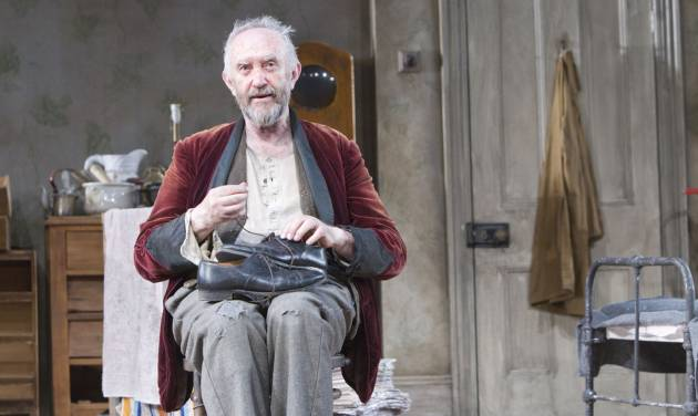 """In this undated image released by the Brooklyn Academy of Music, actor Jonathan Pryce is shown during a performance of """"The Caretaker,"""" in New York. (AP Photo/BAM, Shane Reid)"""