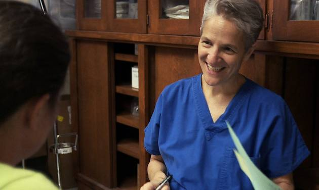 "This still image taken from the documentary, ""After Tiller,"" shows Dr. Shelley Sella. On Thursday, Feb. 7, 2013, the New Mexico medical board is expected to make a decision on whether to take action against Sella, who performed a late-term abortion. Sella is a former colleague of slain Kansas abortion doctor George Tiller and one of the few doctors in the country who still openly performs third-term abortions. (AP Photo/Sundance Institute)"