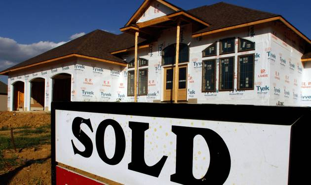 In this Aug. 22, 2011, file photo, a sold sign is posted in front of a new home in Springfield, Ill.  Republican senators said Thursday, Dec. 6, 2012, that they are pressing the U.S. government's housing official to take steps to shore up the federal agency that insures mortgages for millions of borrowers. An audit shows the agency faces $16.3 billion in losses and might require a taxpayer bailout. (AP Photo/Seth Perlman)
