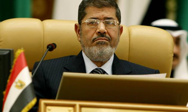 Egyptian President Mohammed Morsi attends the third session of the Arab Economic Summit, in Riyadh, Saudi Arabia, Monday, Jan. 21, 2013. Saudi Arabia is hosting the Arab Economic Summit on January 21 and 22. (AP Photo)