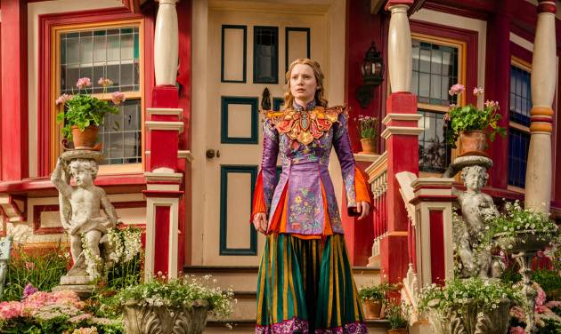 In this image released by Disney, Mia Wasikowska appears in a scene from