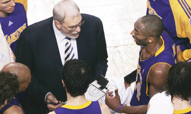 Los Angeles Lakers head coach Phil Jackson, left, could certainly be considered one of the best NBA coaches ever. But, were his choices of coaching jobs picked for success? AP photo