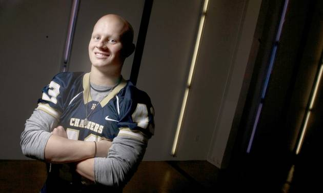 Heritage Hall's Ford Price had surgery to remove Ewing's sarcoma.  Photo by sarah Phipps, the oklahoman