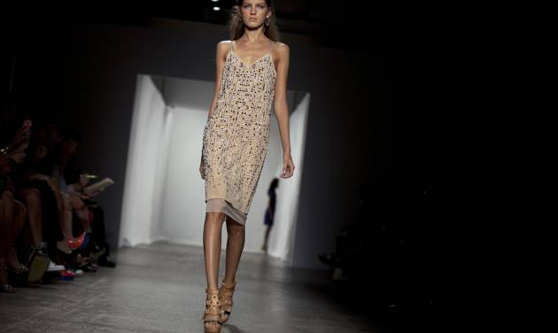 The Rebecca Taylor Spring 2013 collection is modeled during Fashion Week, Saturday, Sept. 8, 2012, in New York. (AP Photo/Karly Domb Sadof)